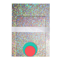 Holographic Silver mylar Bags