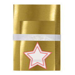 Gold Mylar Gift Bags