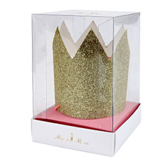 Glittery Gold Crowns