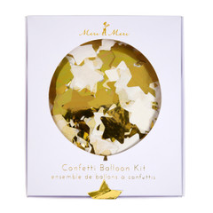 Confetti filled Balloon Kit, Gold, 18""