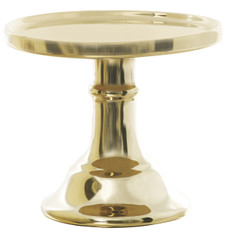 Miss Etoile Ceramic Cake Stand, Gold, Small