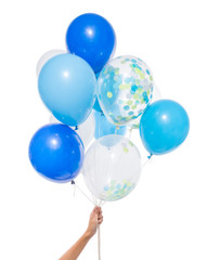 Balloons: 12 Mixed Blue