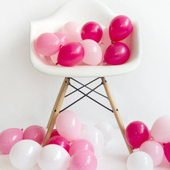 Mini Balloons: 36 Pink Mixed