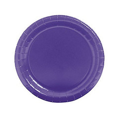 Plates, Large Purple