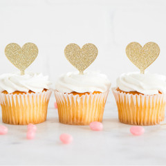 Princess Heart Cupcake Topper