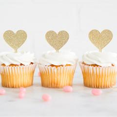 Heart Cupcake Topper
