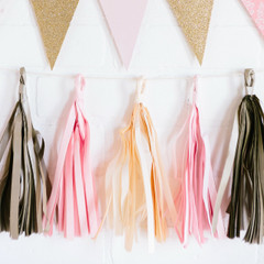 Princess Tassel Banner: Pre-Made