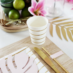 Gold Stripe, Beverage Cups