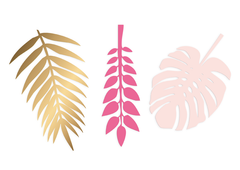 Gold & Pink Deco Leaves