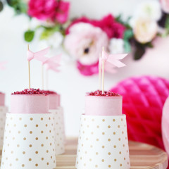 Food Toppers, Shades of Pink