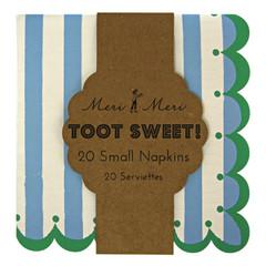 Toot Sweet Blue Stripe Small Napkin