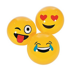 Inflatable Emoji Balls, Large
