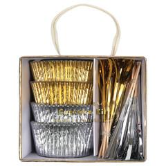 Gold & Silver Cupcake Kit