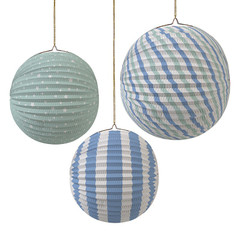 Paper Globe Pastel Blue Party Decorations