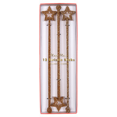 Gold Glitter Swizzle Sticks