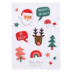 Sticker Sheet, 3D Christmas