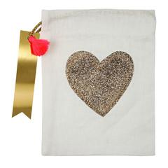Glitter Heart Party Bag