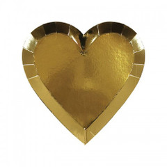 Gold Heart Plates, Small