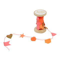 Pink Garland on Wooden Spool