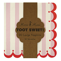 Toot Sweet Pink Stripe Large Napkin