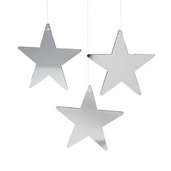 Star Decoration, Silver, Medium