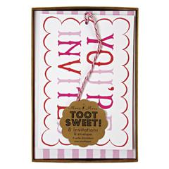 Toot Sweet Pink Invitations