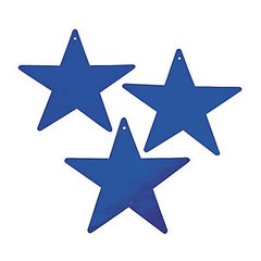 Star Decoration, Blue, Medium