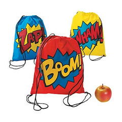 Super Hero Drawstring Backpacks
