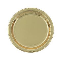 Gold foil plates, Large