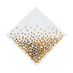 Gold Foil Dots, Lunch Napkins