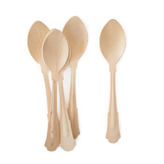 Wooden Cutlery, Deluxe Birchwood Spoons