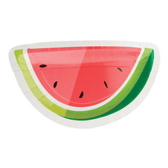 Watermelon Plates, Die Cut