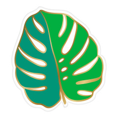 Monstera Leaf, Die-cut Plates