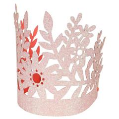 Pink Glitter Crowns