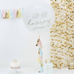 Hip, Hip, Hooray Balloon Kit w/ Tassels, 36""