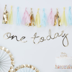 """One Today"" Gold Banner"