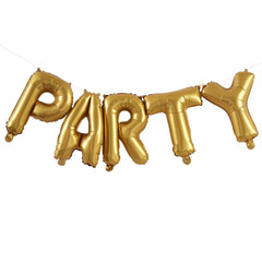 Gold Mylar Balloons, Party
