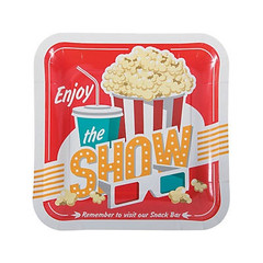 Movie Night Plates, Large