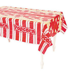Movie Night Popcorn Tablecloth