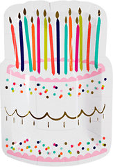Happy Birthday Die-Cut Cake Plates