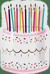 Happy Birthday Die-Cut Cake Plates