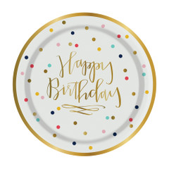 Happy Birthday Cake Plates