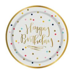 Happy Birthday Cake Plates