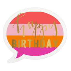 Party Girl Happy Birthday Bubble Napkins