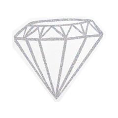 Silver Diamond Napkins