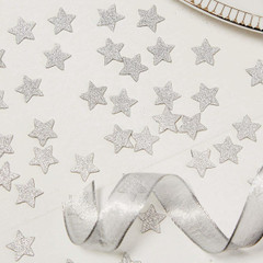 Confetti,  Silver Glitter Stars