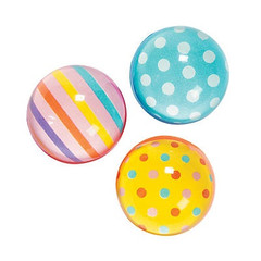 Bouncy Balls, Dots & Stripes