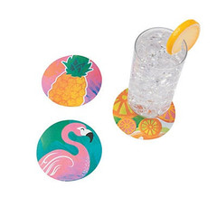 Luau Paper Coasters