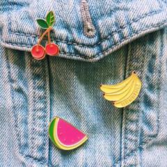 Enamel Pins, Summer Fruit