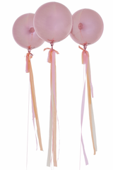 Blossom Pink Orb Balloons, with streamers